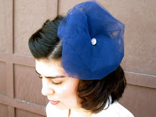 Blue Martini Cocktail Hair Fascinator