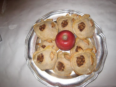 A Plate of Apple-Shaped Personal Apple Pies