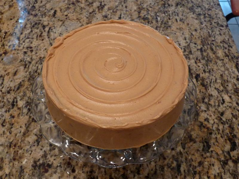 spice cake with peanut buttercream