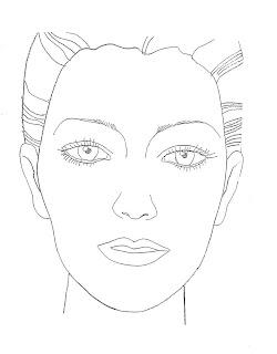 Vintage makeup blank makeup design face blank makeup design face maxwellsz