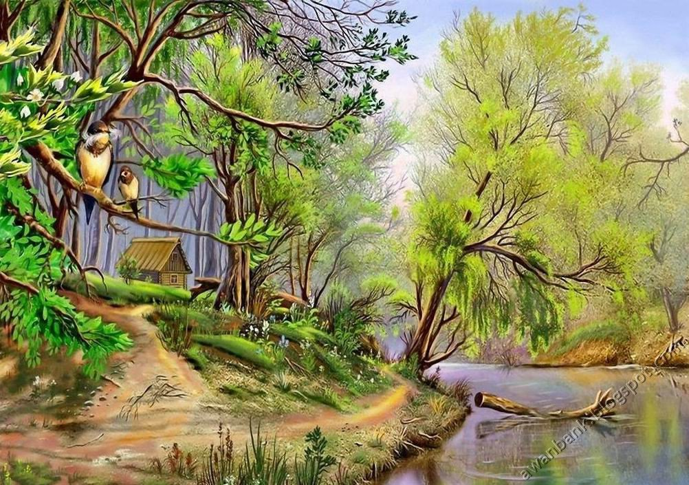 paintings of nature photos. COOL NATURE PAINTINGS