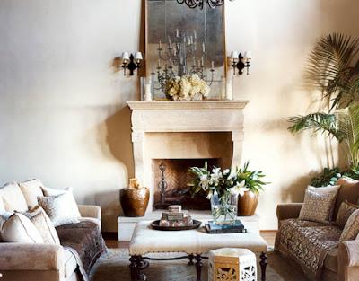 Natural decor old world elegance for Tranquil living room ideas