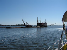Dredging just north of Beaufort, NC