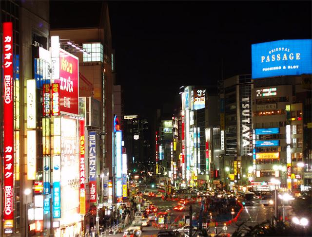 fotos de tokyo en la noche