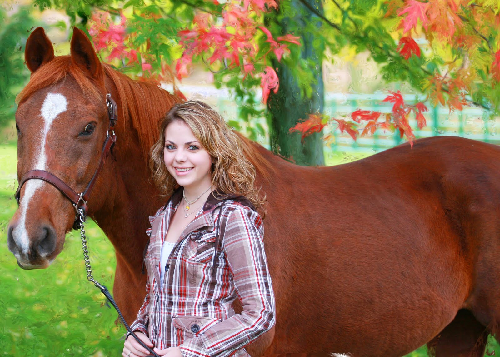 Senior Picture Girl With Horse