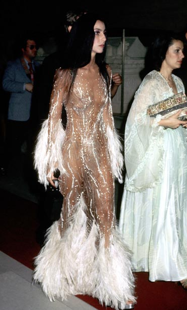 Cher hot catsuit naked sheer 1970s