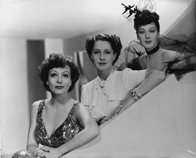 Joan Crawford Norma Shearer and Rosalind Russell in The Women