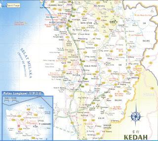 Malaysia Travel Guide And Map Map Of Kedah Alor Setar - Alor setar map
