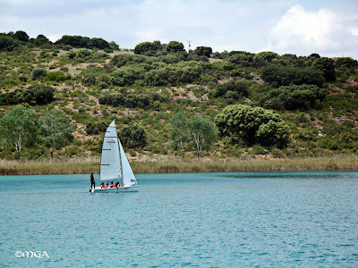 Lagunas de Ruidera - Aprenciendo a navegar