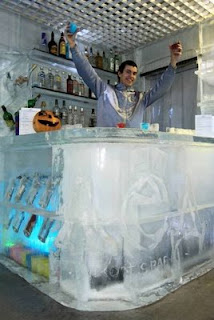 icebar em San Petersburgo, Rússia