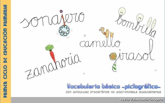Vocabulario pictográfico para palabras de dificultade ortográfica