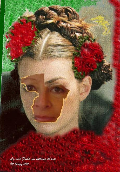 La mia Frida con collana di rose