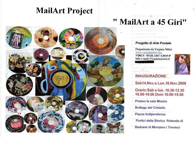 Invito Mostra Mailart a 45 Giri