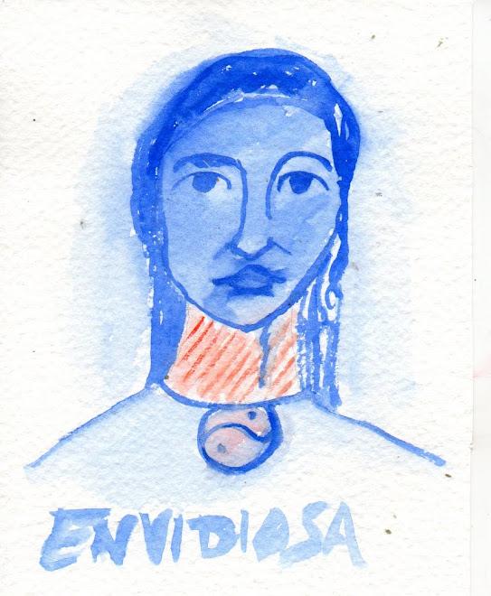 Envidiosa  dal suo Diario1946-1954 circa(acquerello)