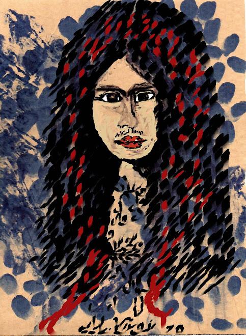 Giovane Frida con nastro rosso Arte Digitale
