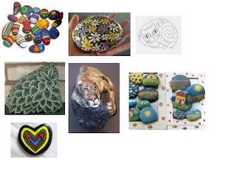 Artesanias: Pintar piedras