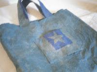 Artesanias: Reciclado de bolsa de cemento/cal.