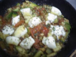 Tofu en salsa de verduras.