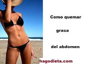 Quemar grasa del abdomen.