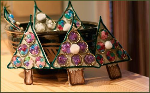 Adornos para navidad con reciclaje Adornos reciclados para navidad