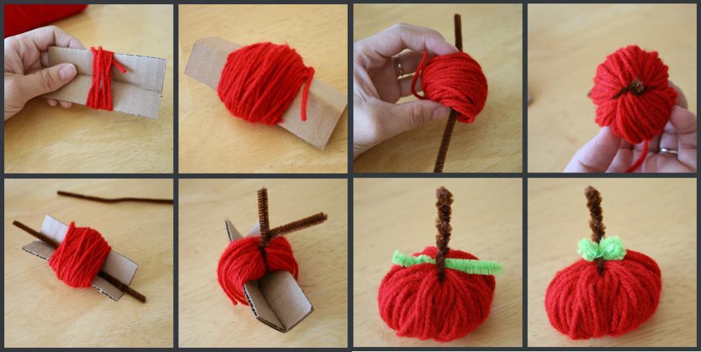 Manualidades con lanas - Como se hacen adornos navidenos ...