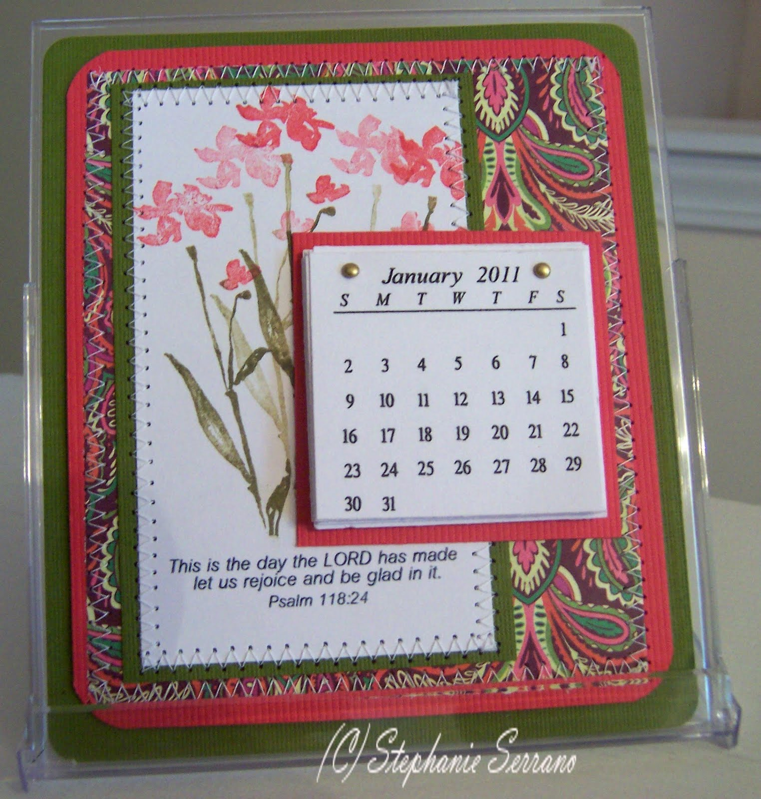 Handmade Calendar Design : Stephanie s stampin spot desktop calendar