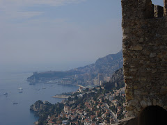 Monaco in the distance, from Castle
