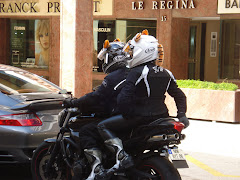Cute Motor Cyclists in Monaco
