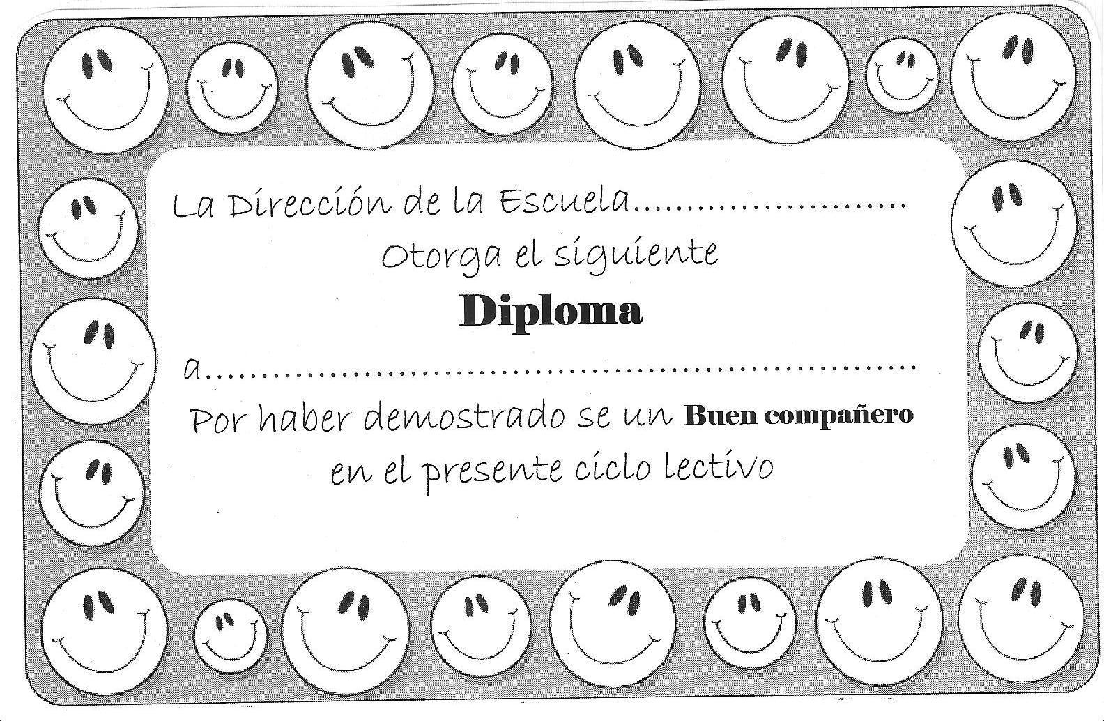 Diplomas De Fin De A  O