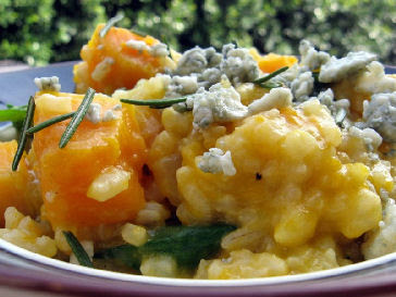 Butternut squash With Sage derby risotto
