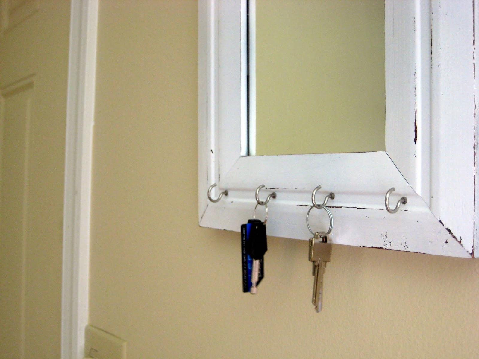 All for this penny craft blog mirror key holder thingy for Mirror holders
