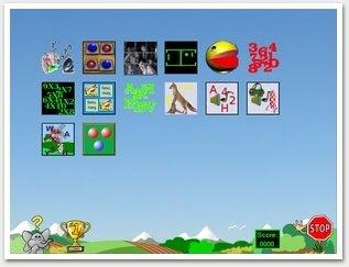 imagem da tela de apresentação do programa, indicando as categorias