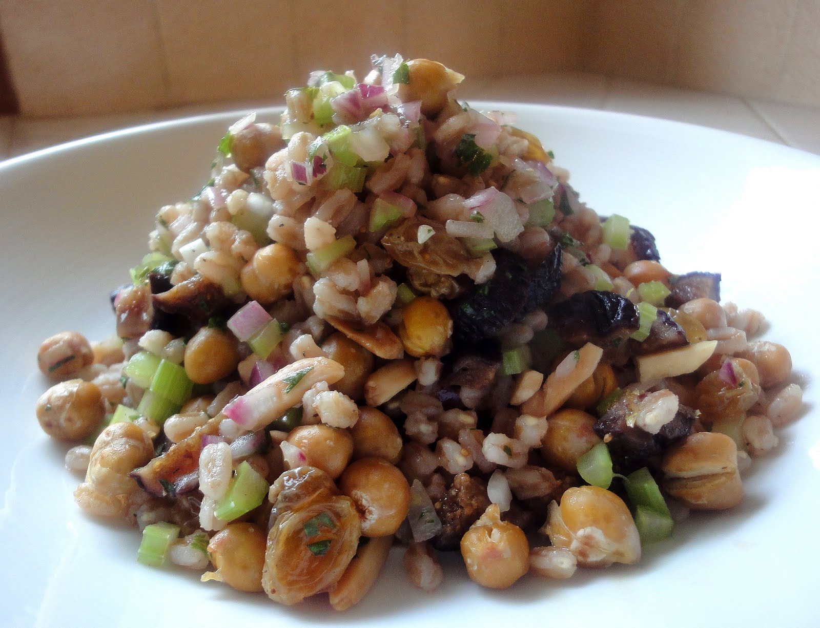 Diana Takes a BiteWinter Farro Salad with Figs  Red Onion