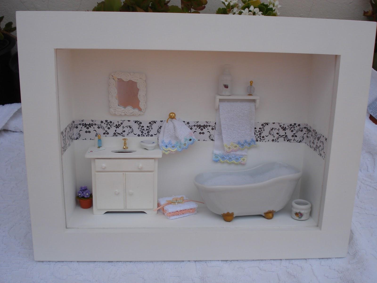 Fazendo Arte Mini Banheiro -> Mini Banheiro Com Banheira