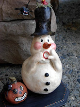 Frosty Boo, clay sculpture