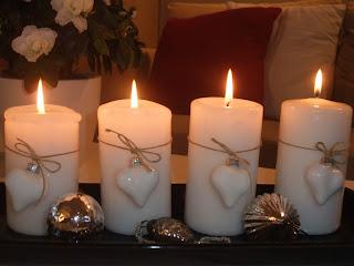 Fire tente lys i adventsstaken