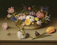 Painting of different flowers by Ambrosius Bosschaert