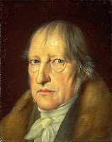Portrait of a serious Hegel by Schlesinger