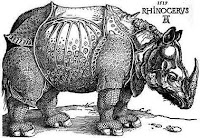 Old Drawing of a Rhinoceros