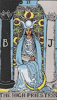 High Priestess Tarot Card from the Rider-Waite Deck