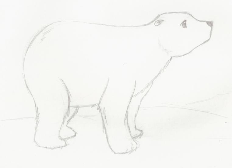 Dibujos Oso Polar. Cool Dibujos Animados Infeliz Oso Polar Con ...