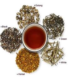 variedad de té con diferentes usos y ritulales