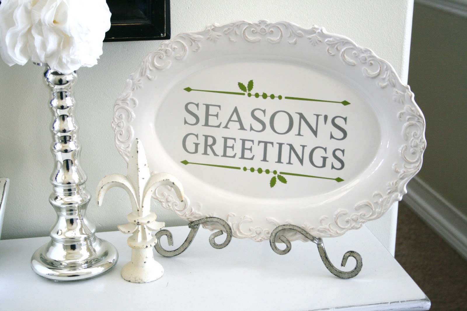 Blue Green White And Silver Christmas Decorating Ideas