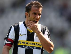 Si es convocado Del Piero puede jugar su partido número 600 con la camiseta juventina