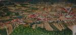 Vista aérea do Chão Pardo pintada à mão