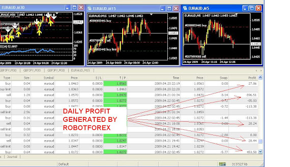 DAILY PROFIT  BY ROBOTFOREX2