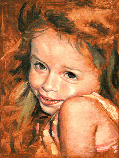 Painting From Life: 2nd Session painting my granddaughter, Ava Dawn...