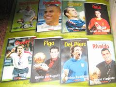 los astros del futbol mundial te muestro mi coleccion de biografias de sus vidas..