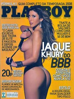 playboy, capa playboy, mulher nua, big brother brasil, BBB8, mulher pelada, ex-BBB, jaqueline khury