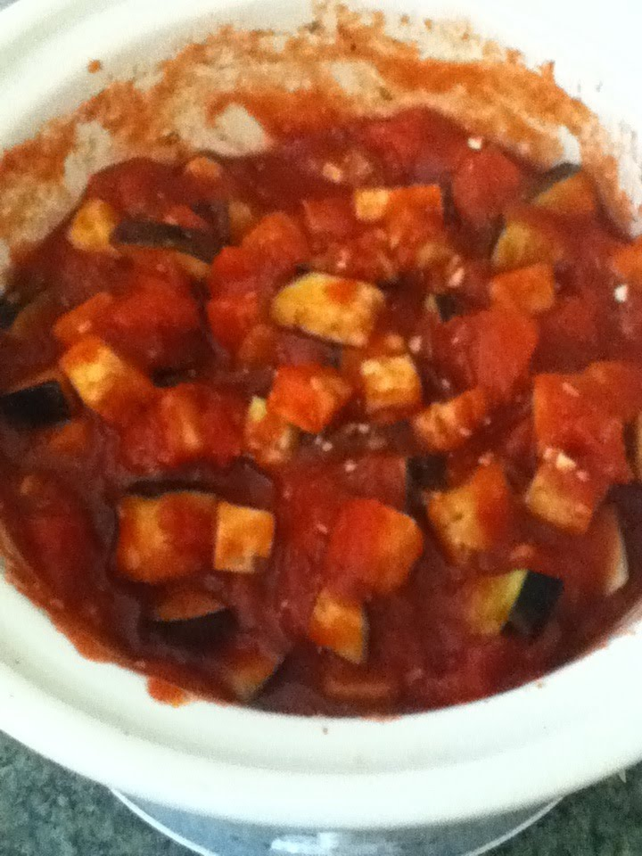 Dinner - Slow-Cooker Eggplant and Tomato Sauce